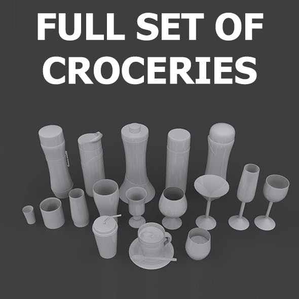 Set of Croceries