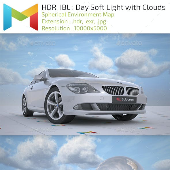 HDR-IBL : Day Soft Light with Clouds