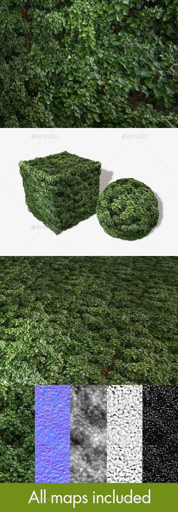 Dense Shrubbery Seamless Texture - 3DOcean Item for Sale