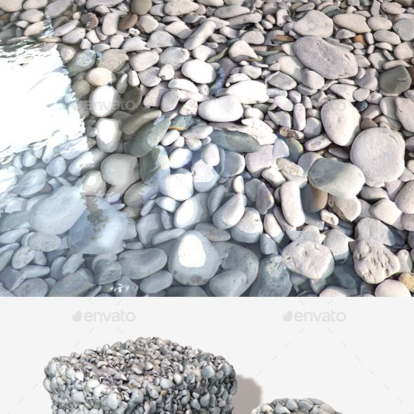 Grey Beach Stones Seamless Texture