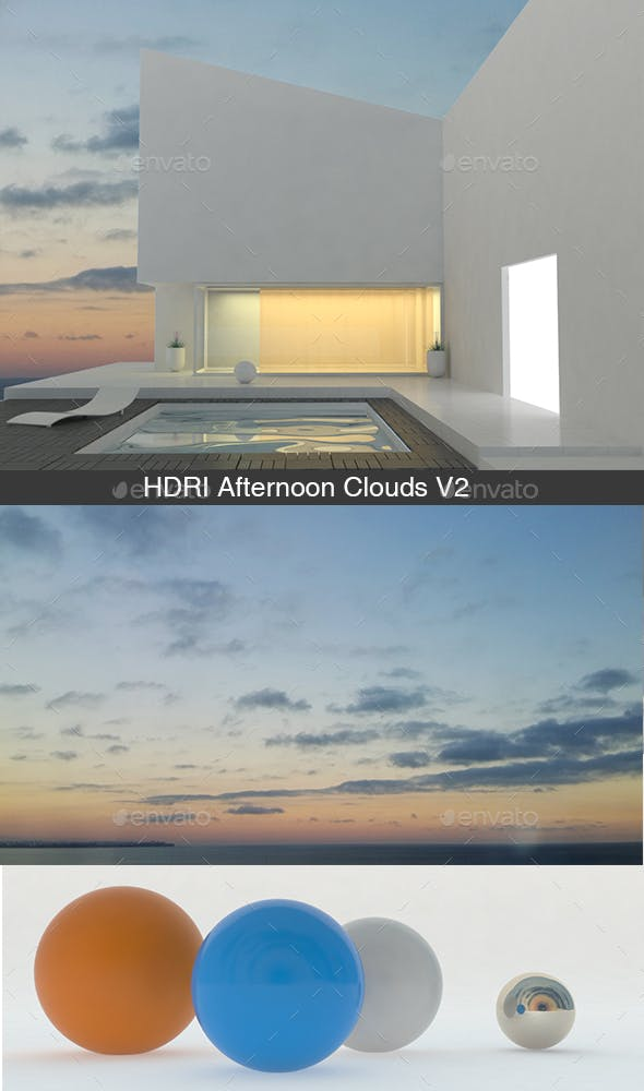 Afternoon Clouds V2 - 3DOcean Item for Sale