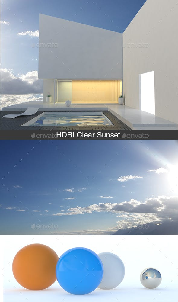HDRI Clear Sunset - 3DOcean Item for Sale