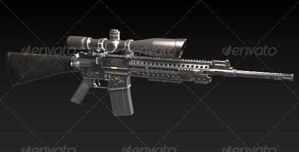 M4 Sniper Rife - 3DOcean Item for Sale