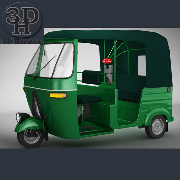 Bajaj Auto Rickshaw - 3DOcean Item for Sale