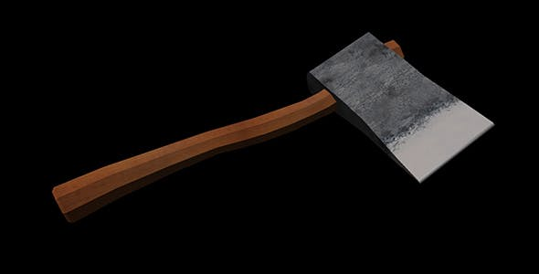 Axe Low Poly - 3DOcean Item for Sale