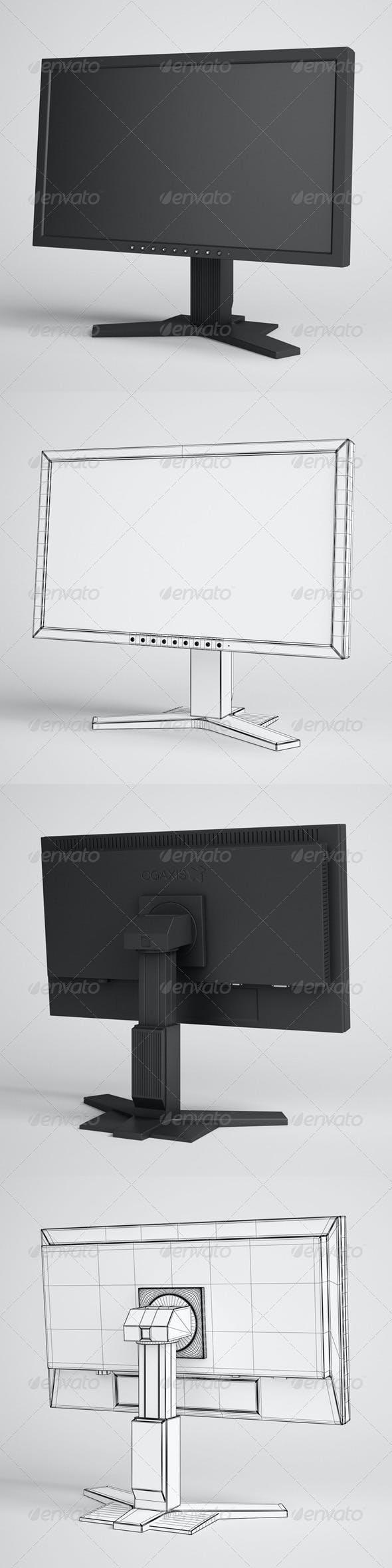 CGAxis Flatscreen Monitor Electronics 20 - 3DOcean Item for Sale