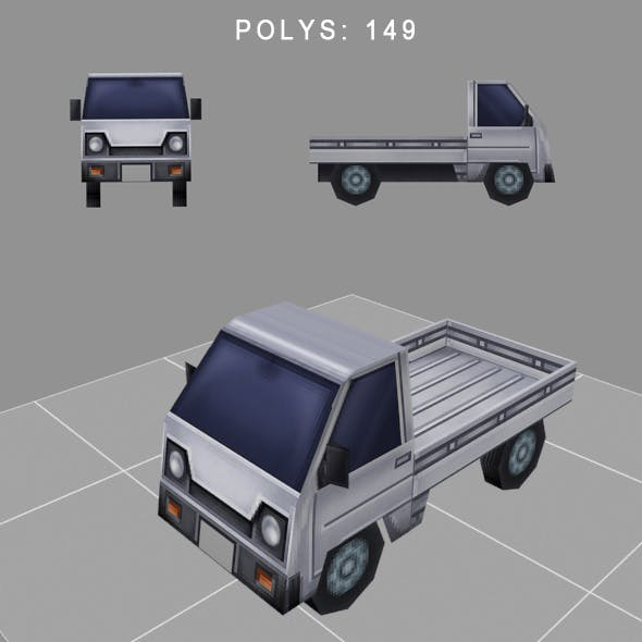 car low-poly for game