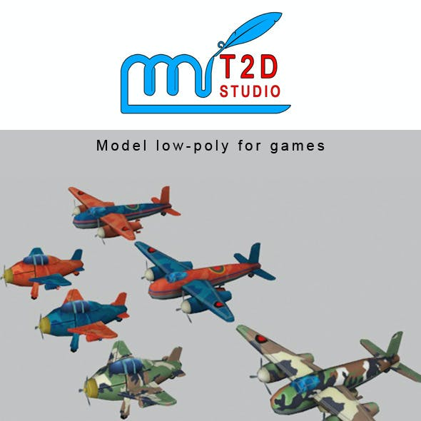 plane low-poly
