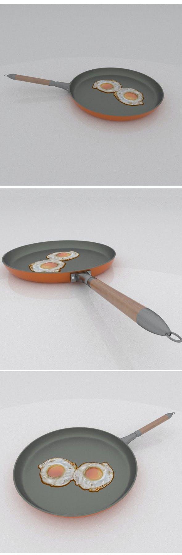 Fried eggs on pan - 3DOcean Item for Sale