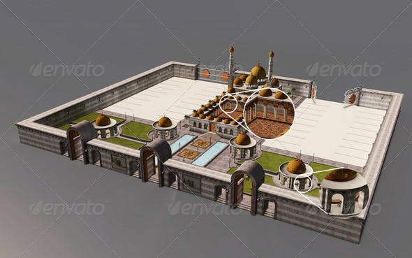 Mosque Modeling - 3DOcean Item for Sale