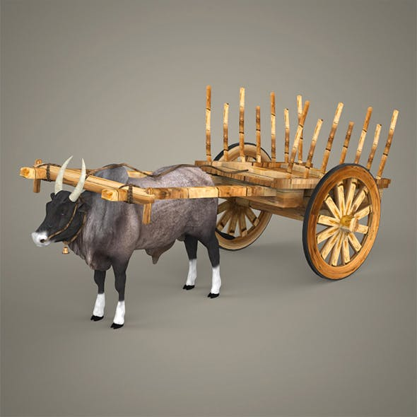 Realistic Ox Cart