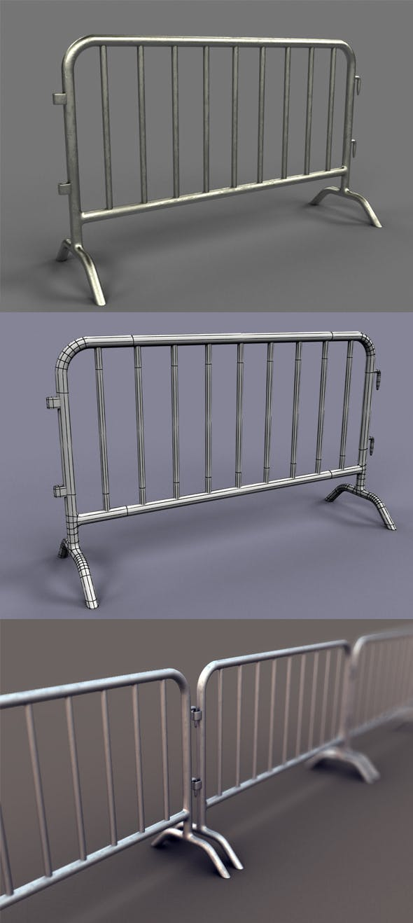 Metal Barrier - 3DOcean Item for Sale