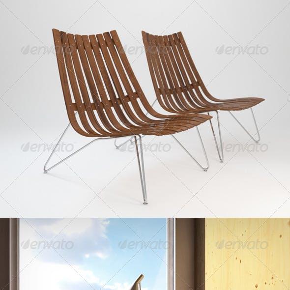 Fjordfiesta Scandia Nett Lounge chair