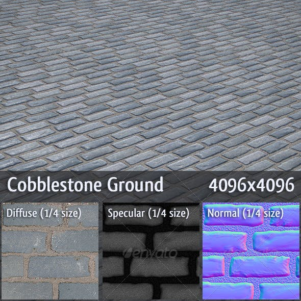 Cobblestone Ground - 3DOcean Item for Sale