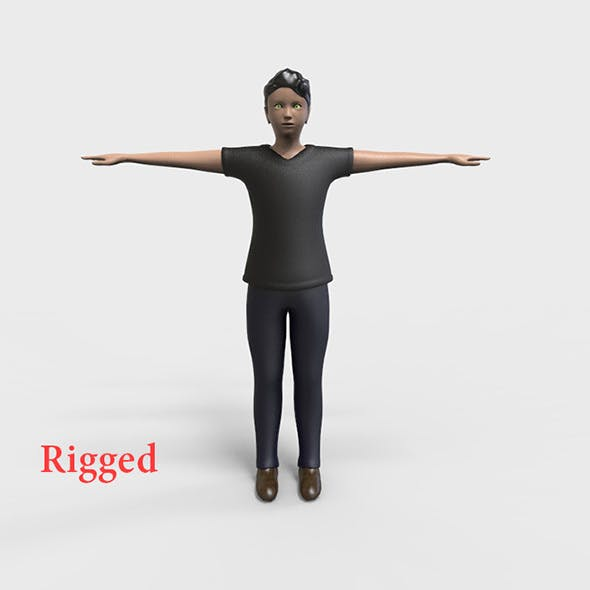 Rigged Male Low polygons character
