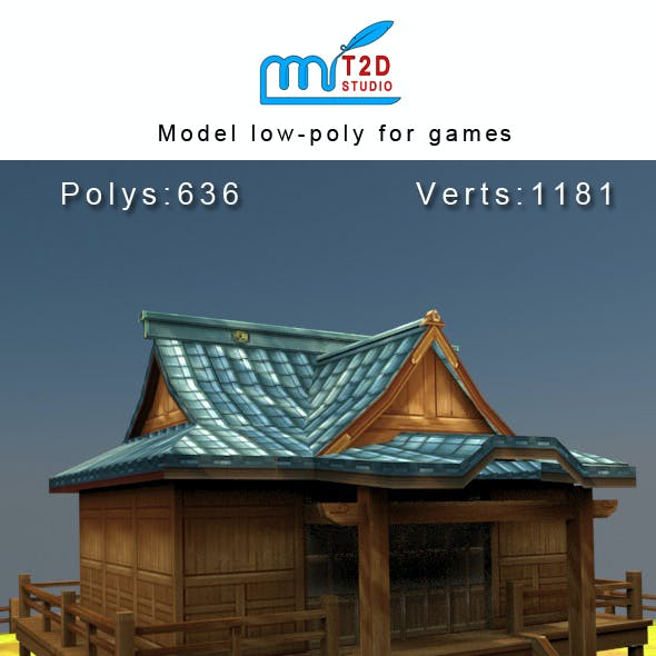 house low-poly for games