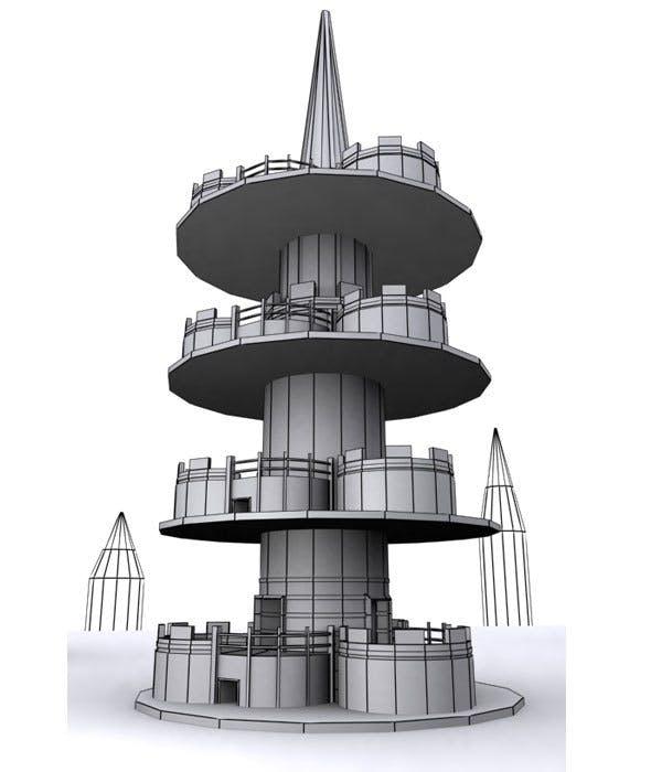 Tower Cartoon House - 3DOcean Item for Sale