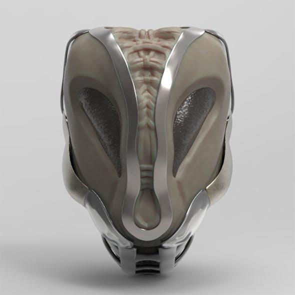 Alien Helmet - 3DOcean Item for Sale