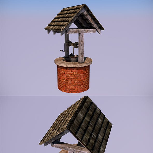 Low Poly Water Well - In-Game Objects