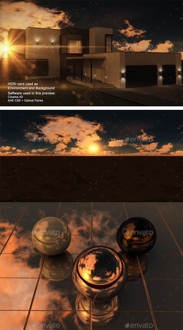 Sunset Desert 40 - 3DOcean Item for Sale