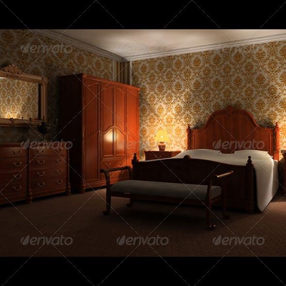 Bedroom Set 01 - 3DOcean Item for Sale