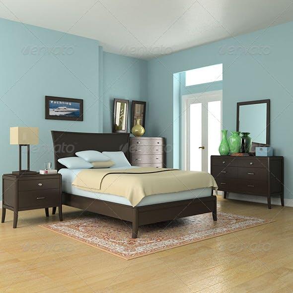 Bedroom Furniture set 3 - 3DOcean Item for Sale