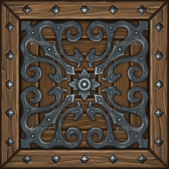 Hand Painted Ornate Panel 01 - 3DOcean Item for Sale