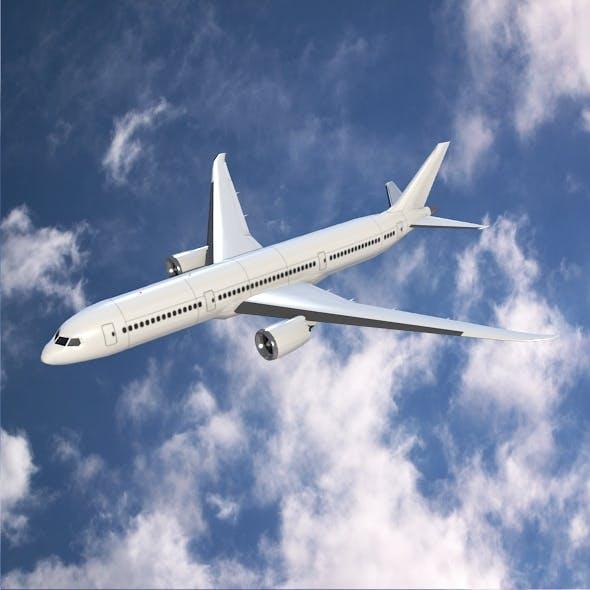 Boeing 787-9 jetliner lowpoly version