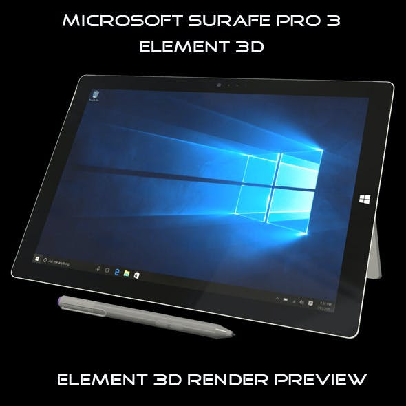 Element 3D - Microsoft surface pro 3