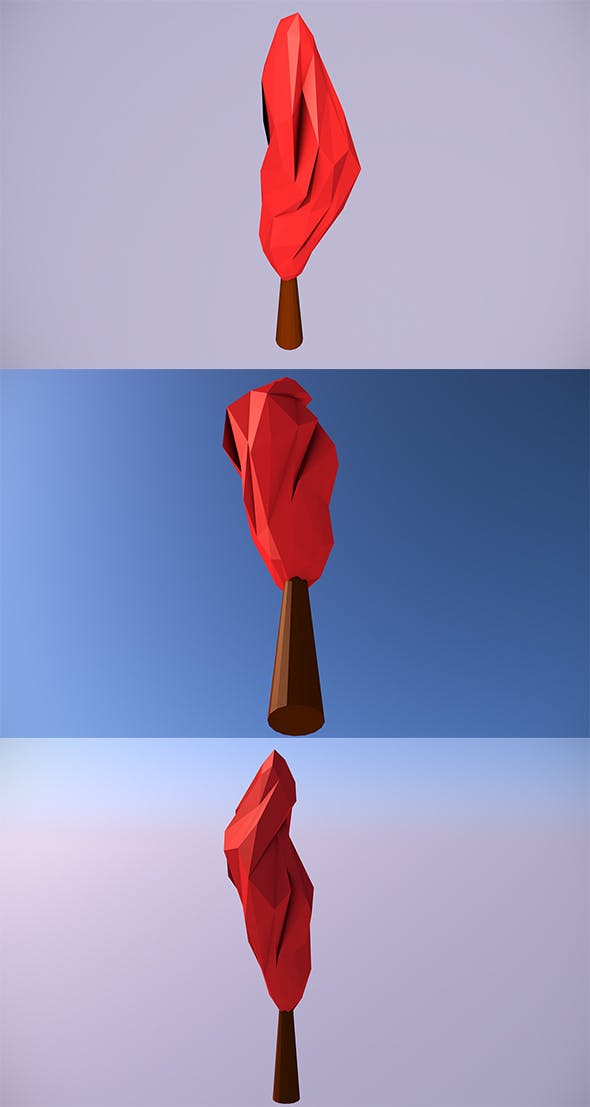 Low Poly Tree - 3 - 3DOcean Item for Sale