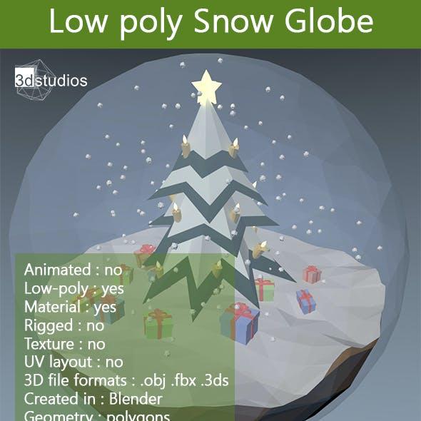 Low Poly Snow Globe