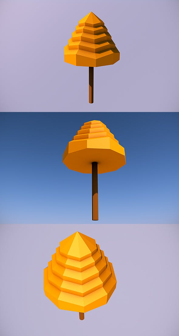 Low Poly Tree - 5 - 3DOcean Item for Sale