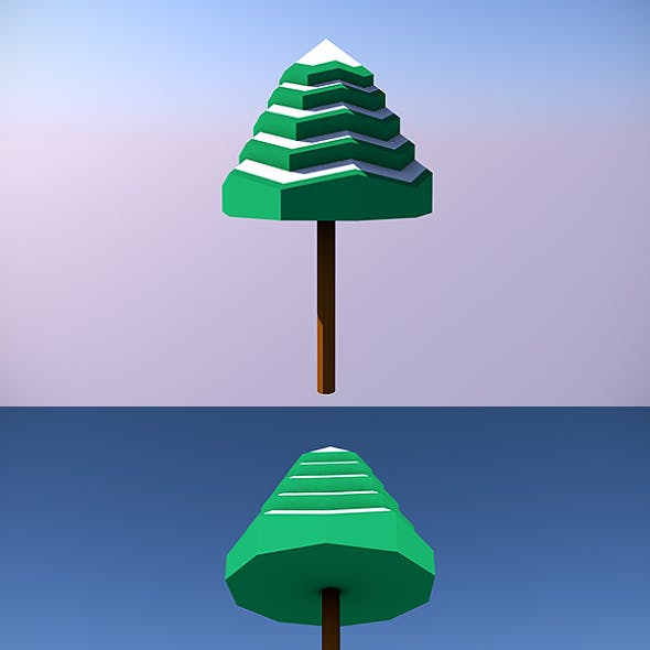 Low Poly Tree - 6
