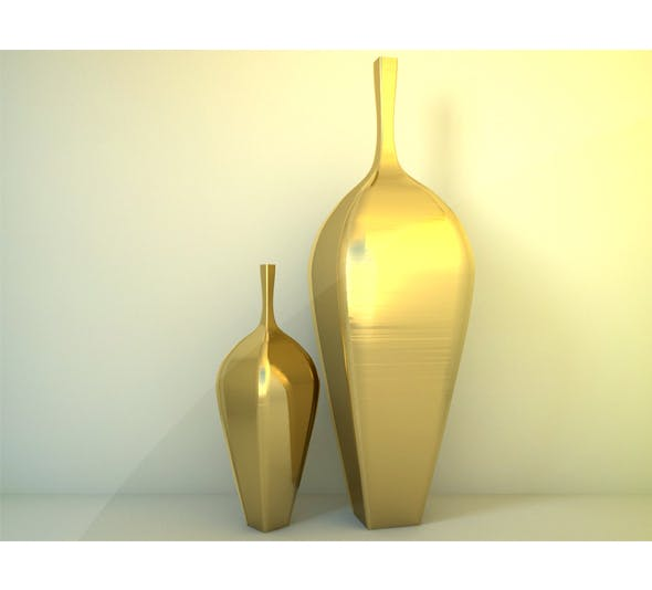 Decorative Vases With Materials - 3DOcean Item for Sale