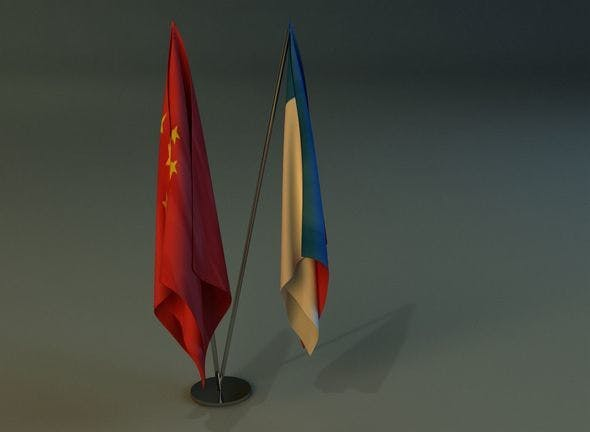 Flag stand two - 3DOcean Item for Sale