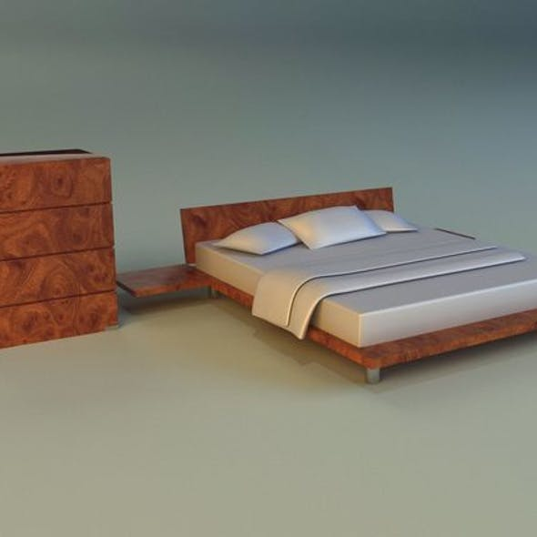Bed pattern wood