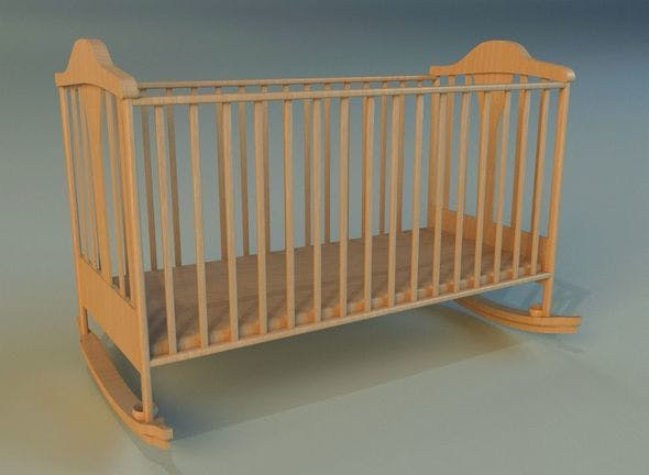 Cot baby bed - 3DOcean Item for Sale