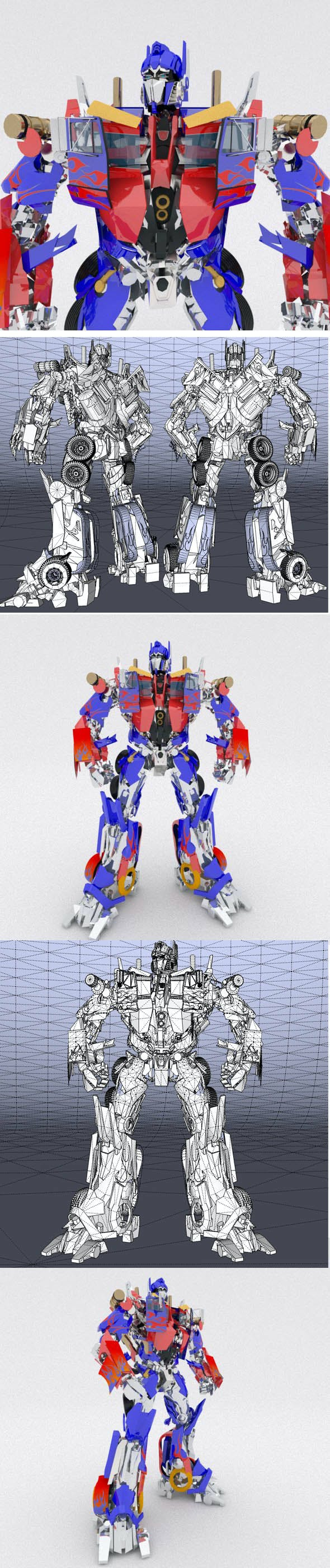 AUTOBOT LEADER Optimus Prime - 3DOcean Item for Sale