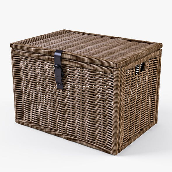 Wicker Rattan Chest Ikea Byholma