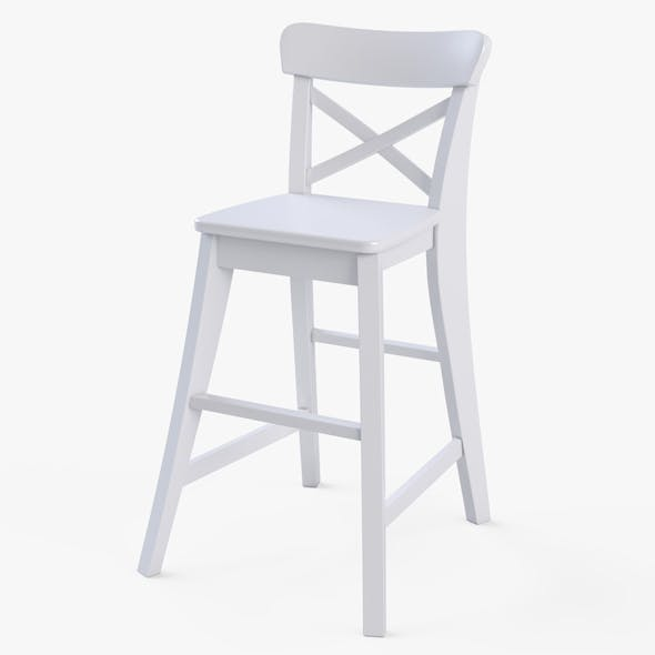 Junior Chair Ikea Ingolf White - 3DOcean Item for Sale
