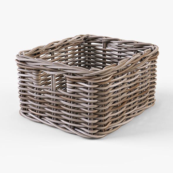 Wicker Basket Ikea Byholma 1 Gray