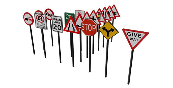 Traffic signboard - 3DOcean Item for Sale