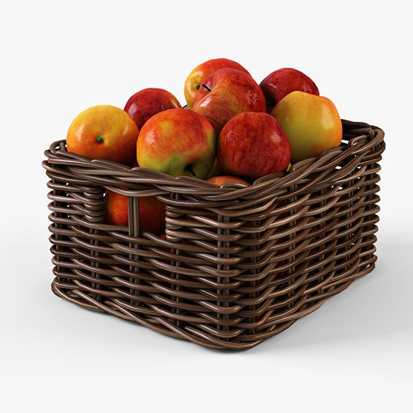 Wicker Apple Basket Ikea Byholma 1 Brown
