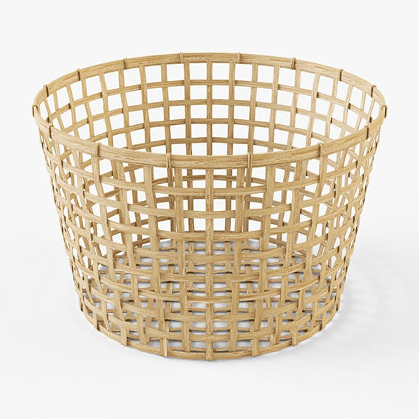 Wicker Basket Ikea Gaddis (diameter 50) - 3DOcean Item for Sale