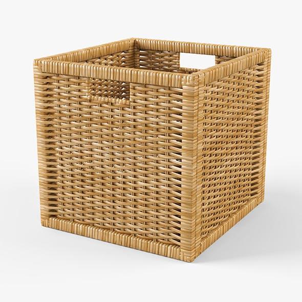Rattan Basket Ikea Branas (Natural Color) - 3DOcean Item for Sale