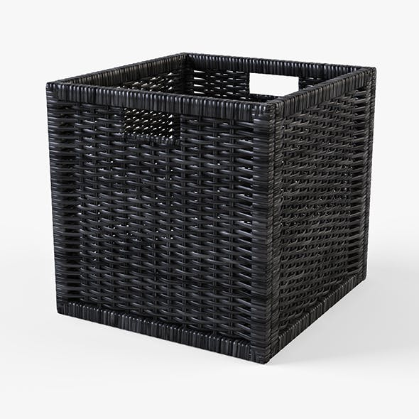 Rattan Basket Ikea Branas (Black Color)