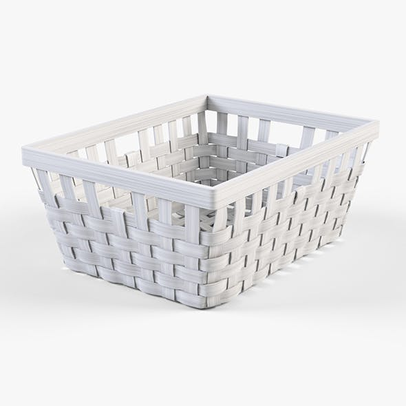 Wicker Basket Ikea Knarra 1 (White Color)