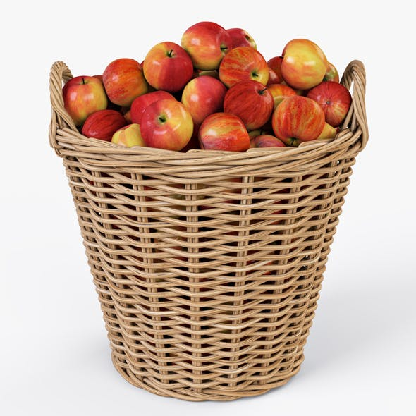Wicker Basket Ikea Nipprig with Apples