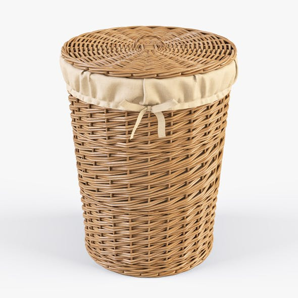 Wicker Laundry Basket 03 (Natural Color)