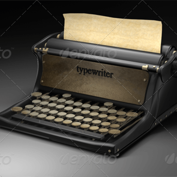 Antique Typewriter with Render Setup